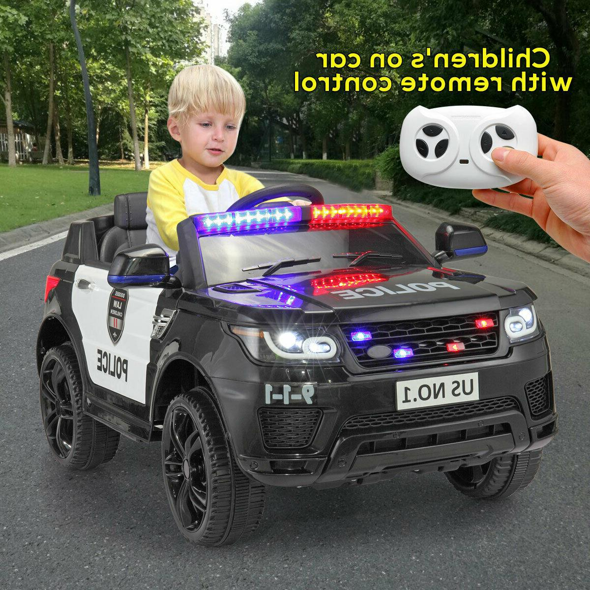 12v electric kids police ride on suv