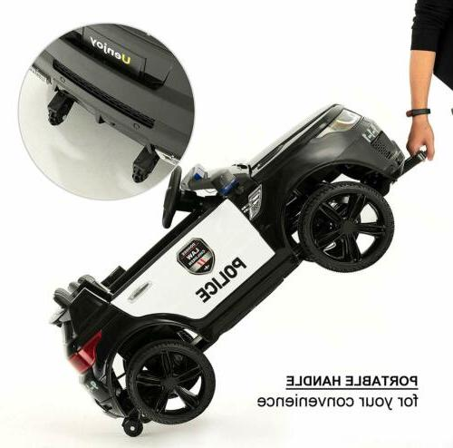 Kids Ride On SUV Electric LED&Music&Horn Black