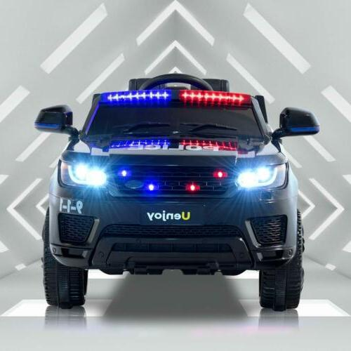 Kids Ride On Police SUV Toy Car 12V Electric Remote Control