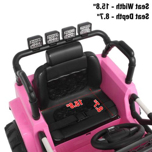 12V Electric Ride on Car Toys Truck LED Remote Pink