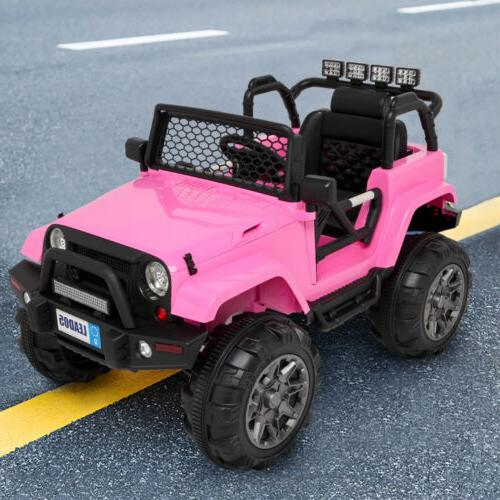 12V Electric Battery Ride on Car Truck LED Remote Control