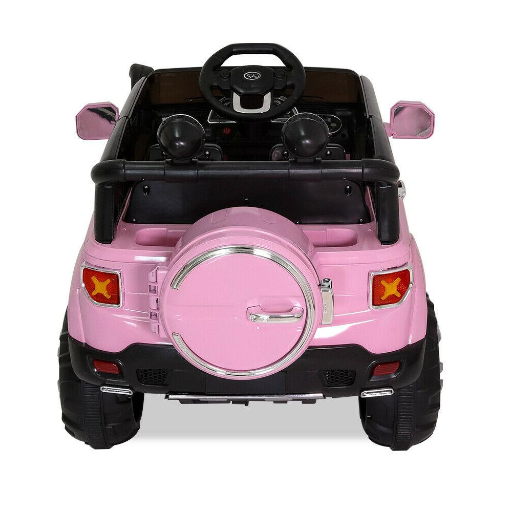 12V Kids on Car Toys Jeep Truck Music + Remote Control