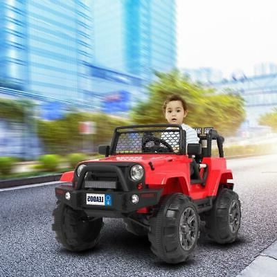 12V Kids on Toys Jeep Truck Music Remote Control RED