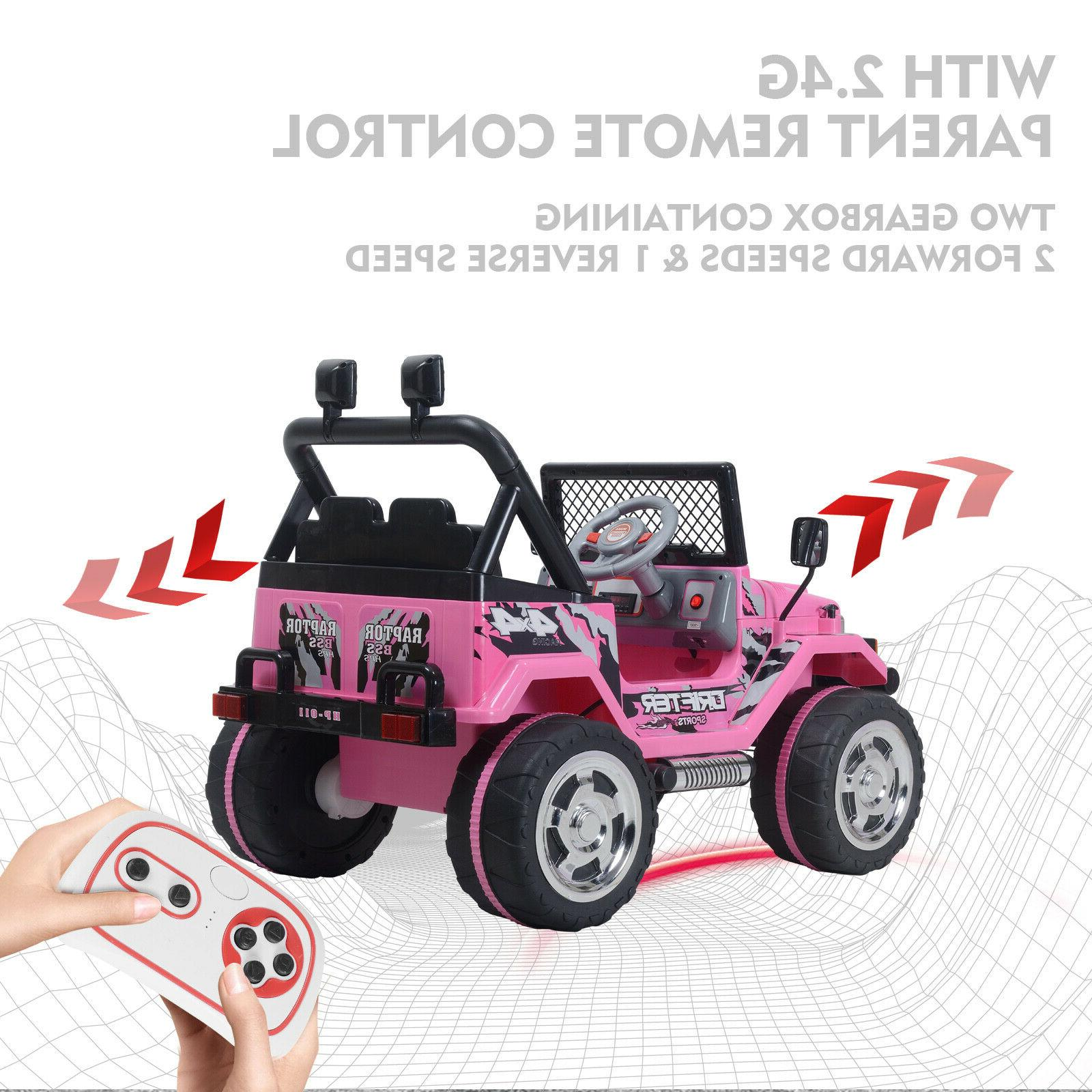 Ride Jeep 12V Remote Control MP3 Light