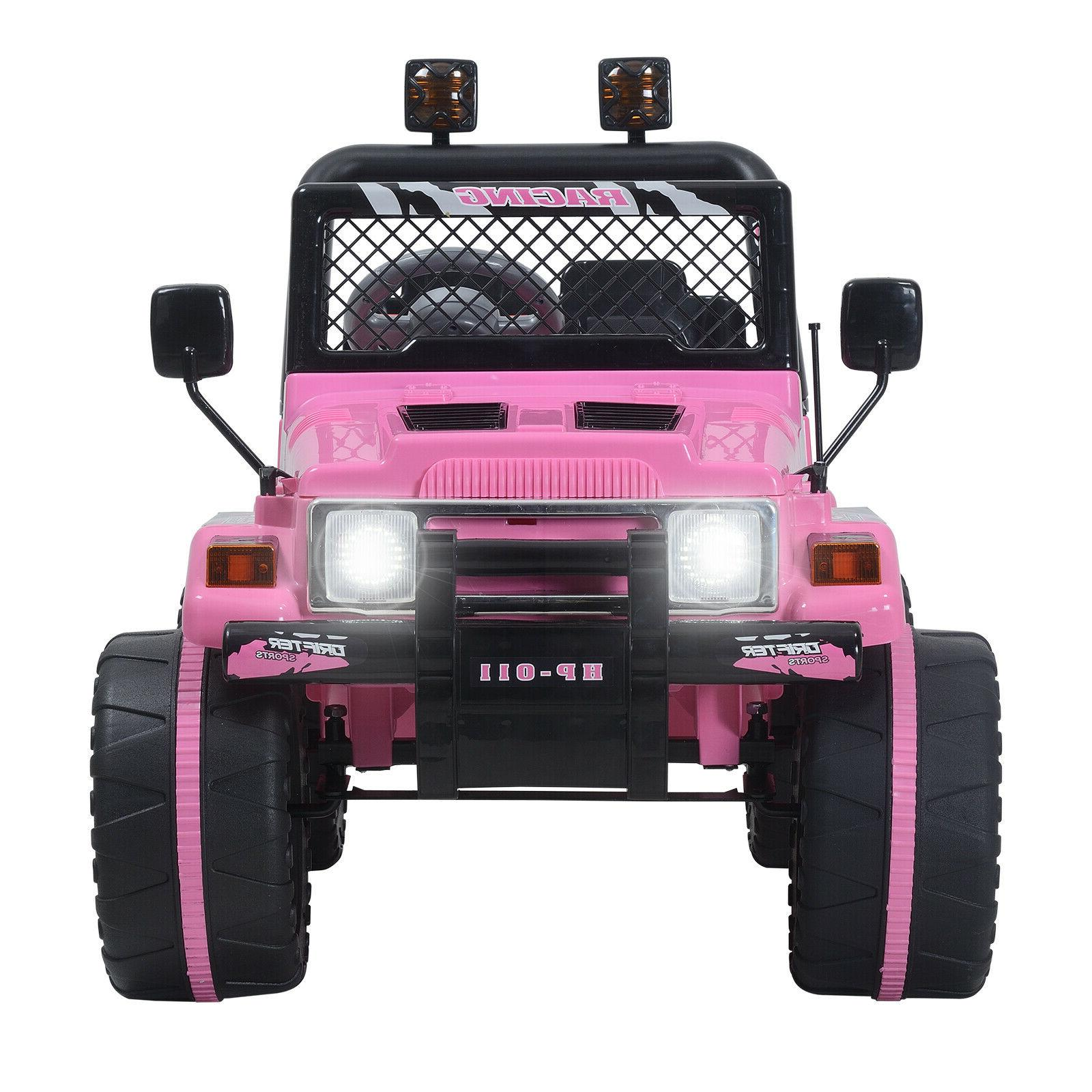 Ride On Jeep Remote Control LED Light Pink
