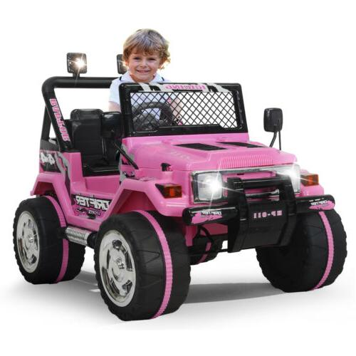 Ride On Jeep Electric Remote Control MP3 Light Pink