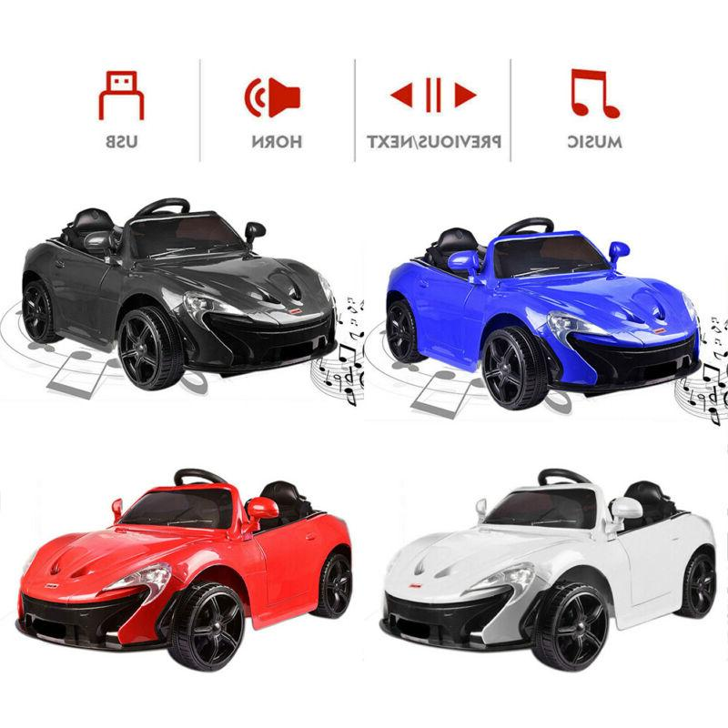 Four-Colors Kids 12V Electric Ride On Car Toy 3-Speed MP3 Sp