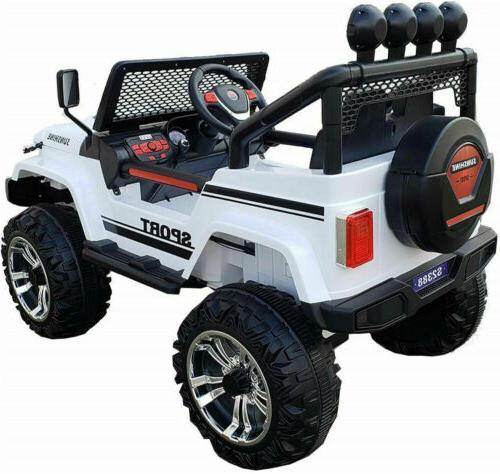 2 Seater Kids 12v Toys Remote Control LED Light MP3