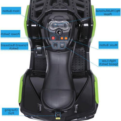 12V Kids Electric Ride-On Car w/ Lights, Sounds