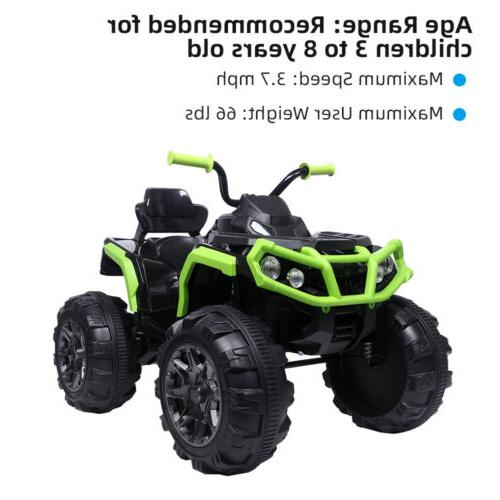 12V ATV Ride-On Toy w/ Lights,