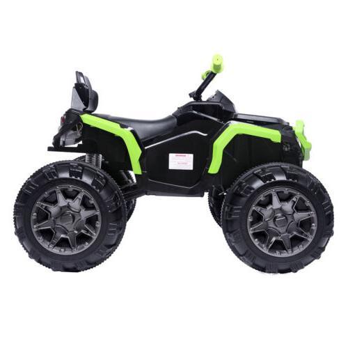 12V Kids ATV Ride-On Toy w/ Speeds, LED Lights,