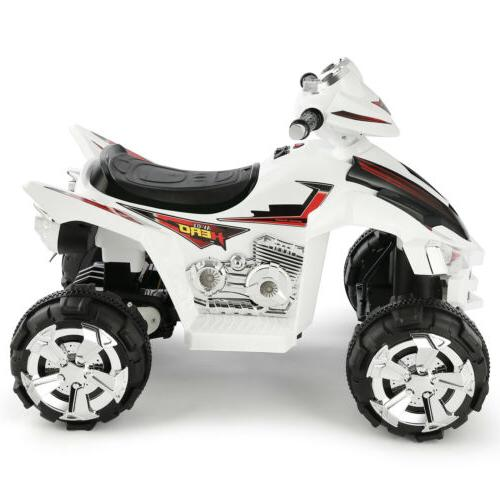 12V Kids ATV Car Quad Electric Toy LED White