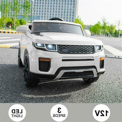12V Kids Ride On Car 2.4GHZ Control White