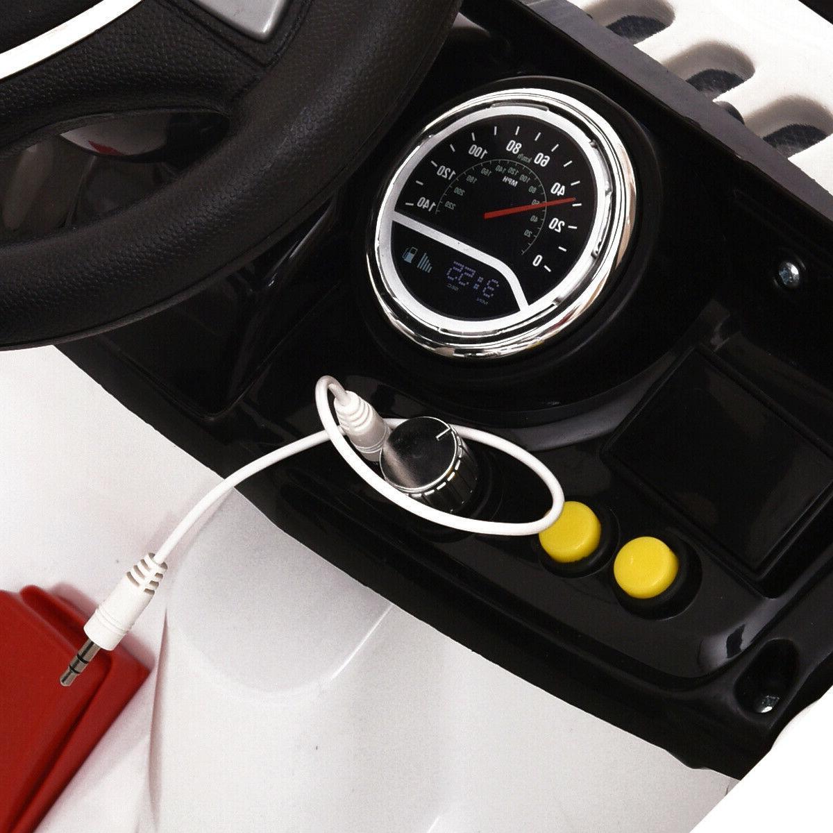 12V Car Battery Truck Remote MP3 White