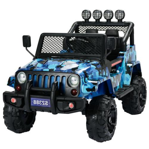 12V on Car Suspension With Blue