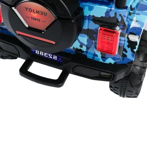 12V Kids Electric Ride on Car Suspension with Remote Blue