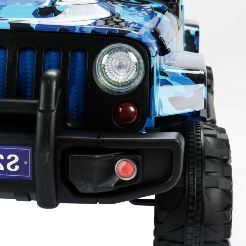 12V Kids on Car Electric Suspension Control Blue