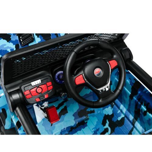 12V Electric on Car Battery Suspension Blue