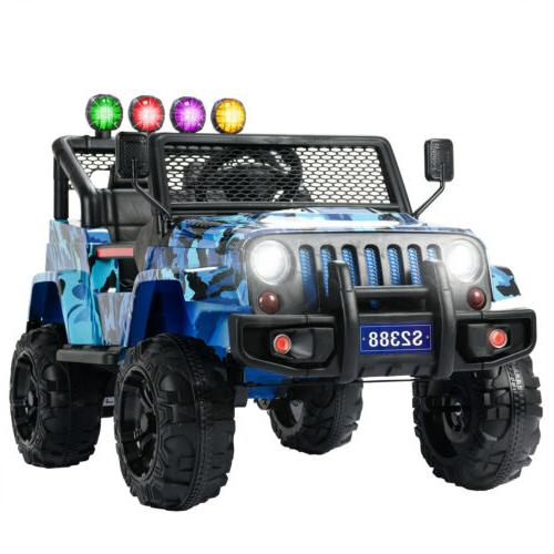 12V Electric on Suspension with Remote Blue
