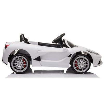 12V Car Toys Birthday White Remote