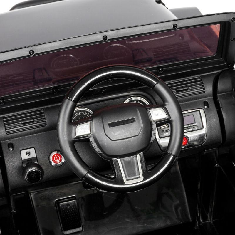 12V on Car SUV Remote Control LED Lights 4-wheel Jeep Toy