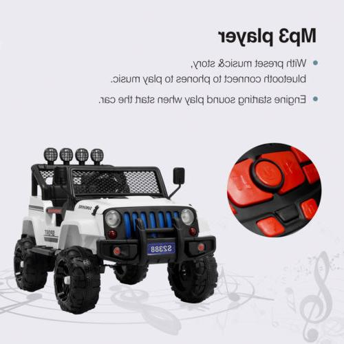 12V Kids on Car Toys Light Suspension 3 Speed