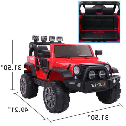 12V Kids Ride on Car Toys Jeep Battery Power Remote Control