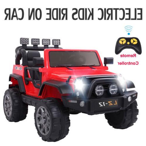 12V Kids Ride On Car Toys Truck Light Music Safety Parents R