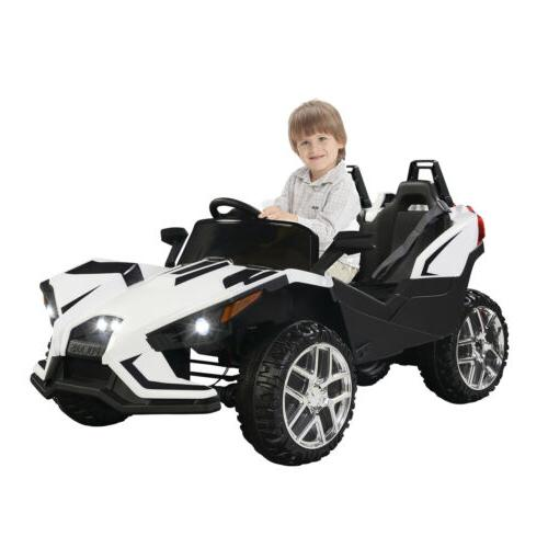 Electric 12V Kids on Car W/RC Truck Music White