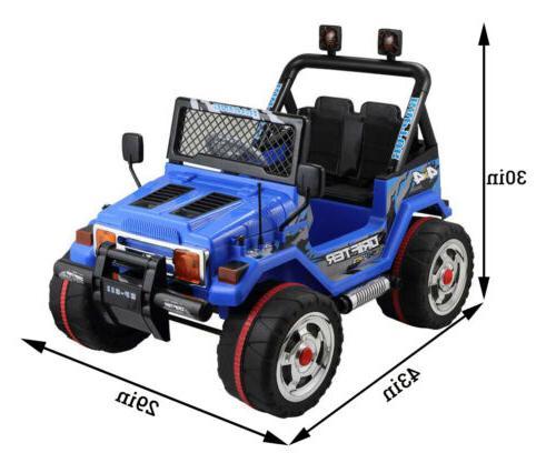 12V Kids Cars Kids W/Remote Speed LED Light Blue