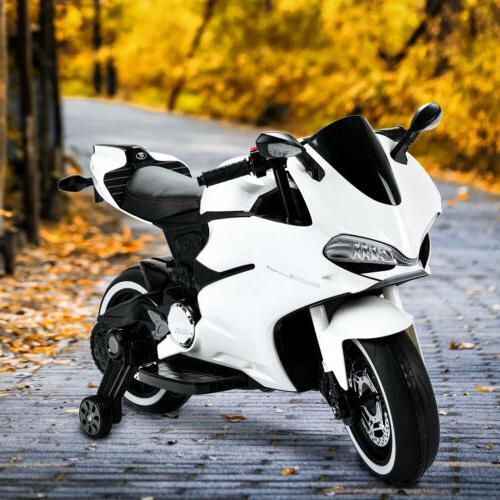 12V Ride Toy Motorcycle Training Wheel