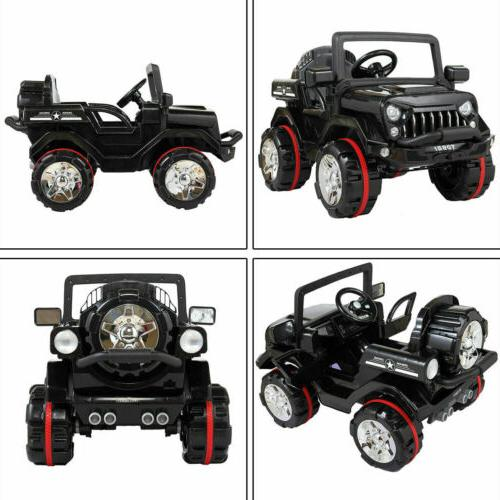 12V Kids Truck Car SUV Style w/ Control LED MP3 Bk