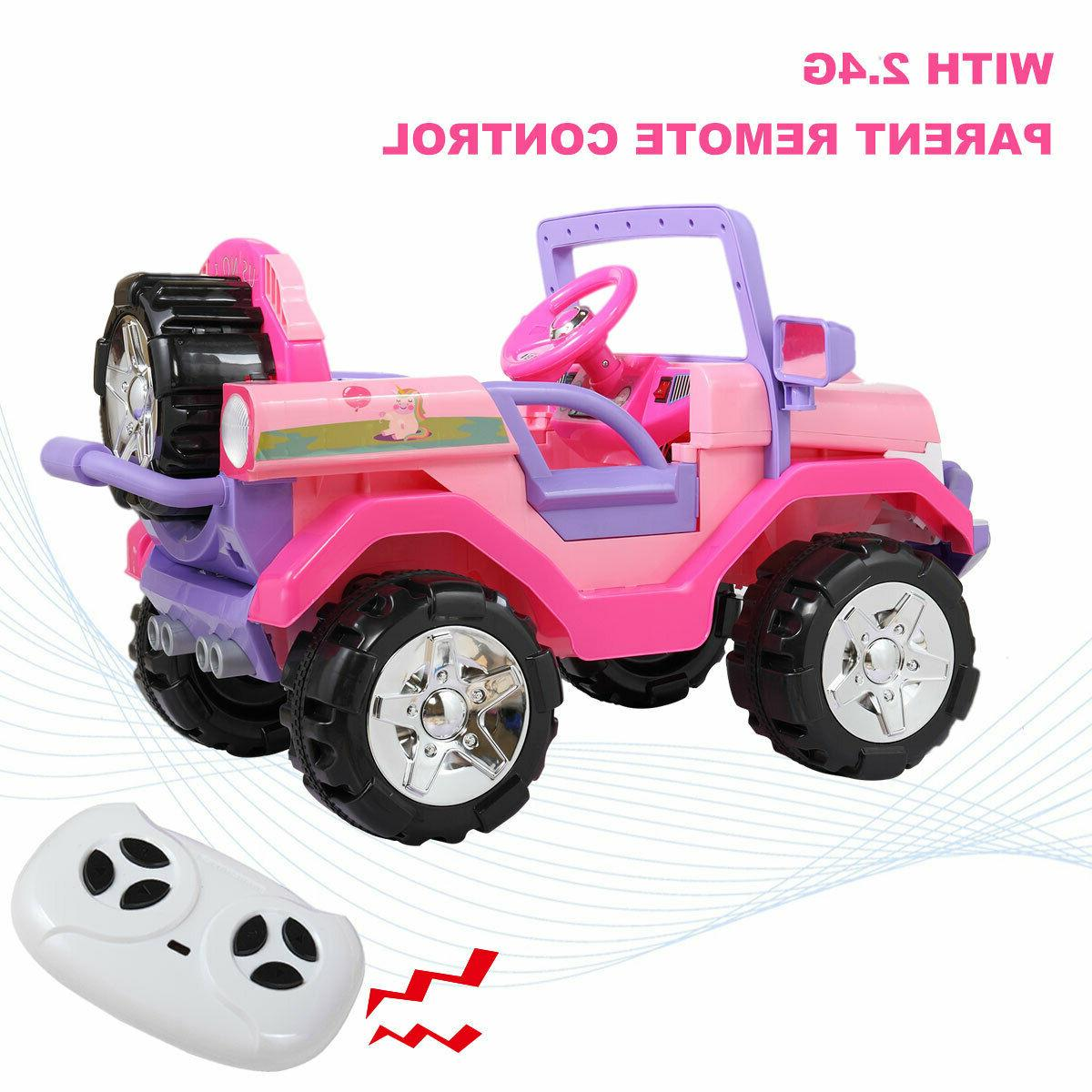 12V Kids Ride Truck Car Electric Toy SUV Style w/ Control