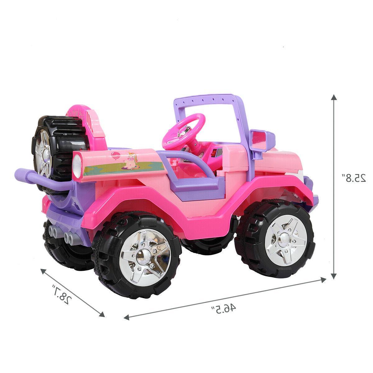 12V Kids Truck Electric SUV Control LED MP3