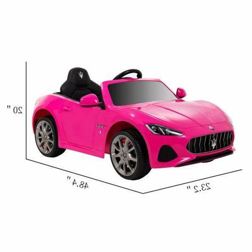 12V Ride On Car Girls Maserati MP3 RC
