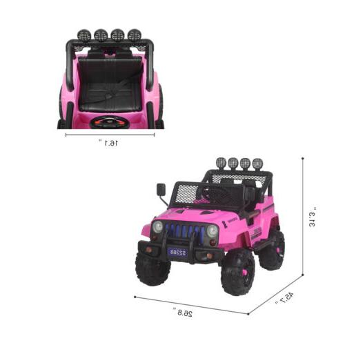 12V Kids Ride Car Jeep Electric Control