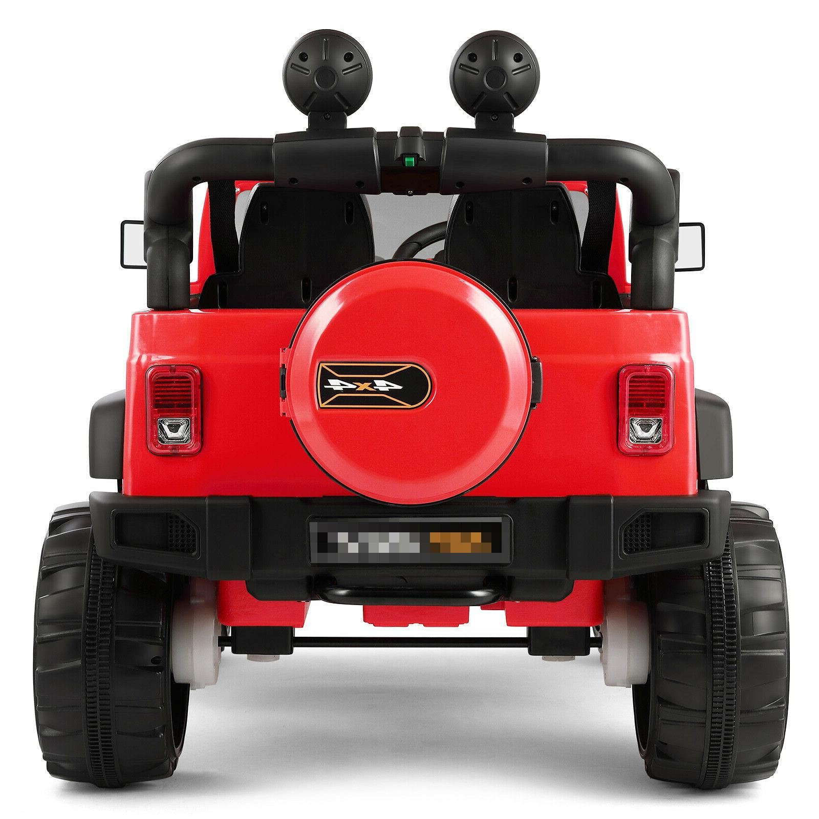 12V Red Ride on Toys 3 Speeds LED w/Remote Control