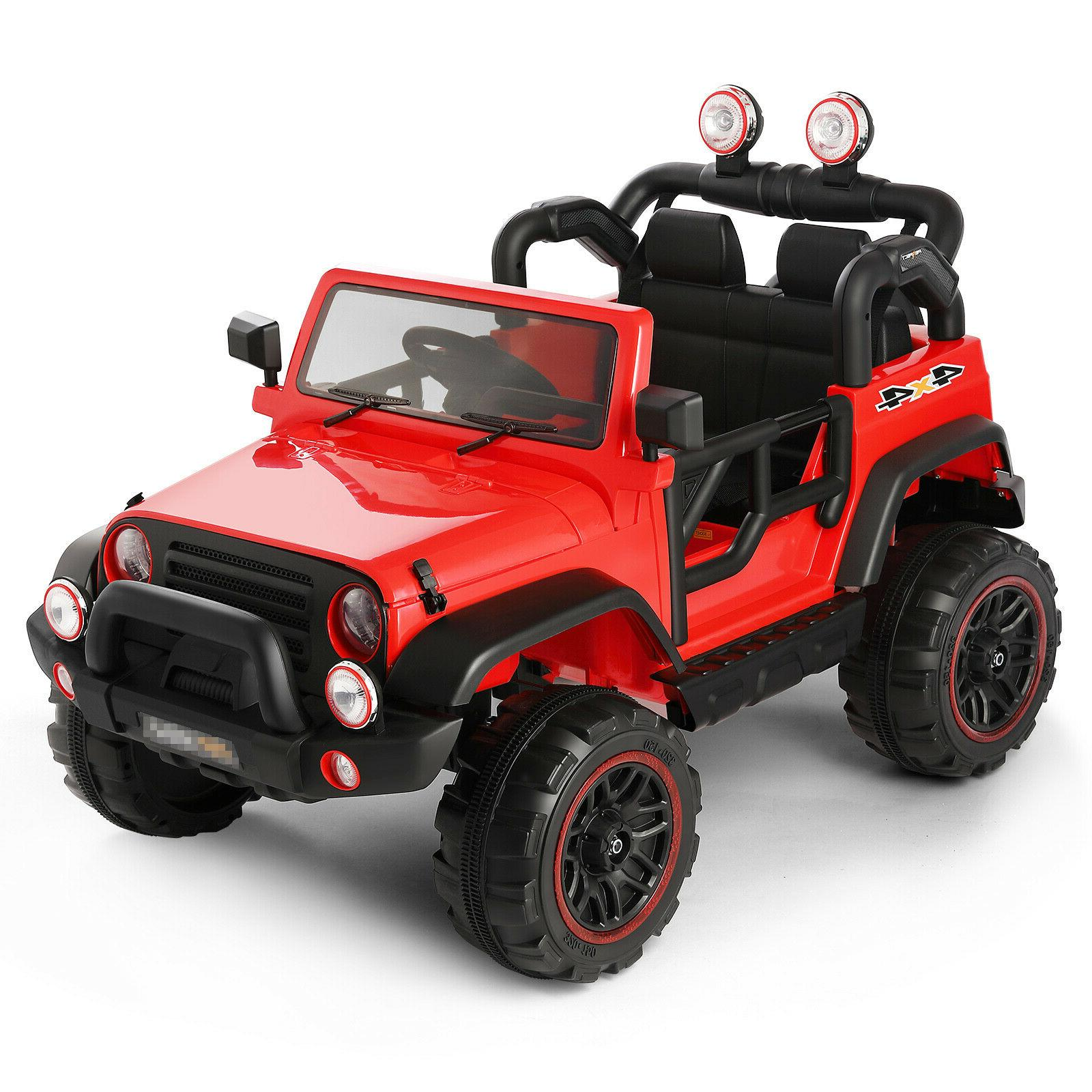 12V Ride on Toys 3 Speeds LED w/Remote Control