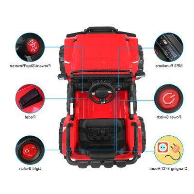 12V RED on Car Toys Electric 3 LED Light Remote