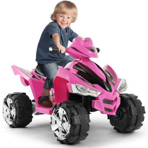 12V Ride On Car ATV Quad Kids Electric Toy 4 Wheeler LED Lig