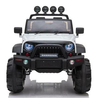 12V Electric Ride Car Toys 3 Speed LED w/ Basket