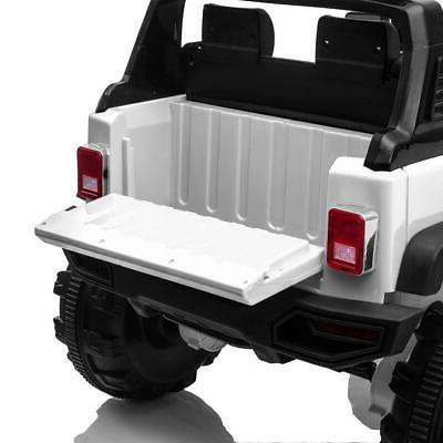 12V White Electric Ride on Car Toys LED w/