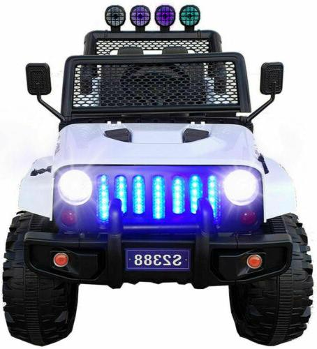 2 Seater Electric 12v Ride Toys Remote LED MP3