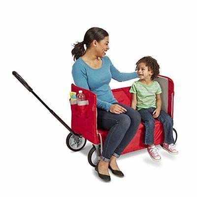 Radio Flyer EZ Fold Wagon Ride Red New Free Shipping