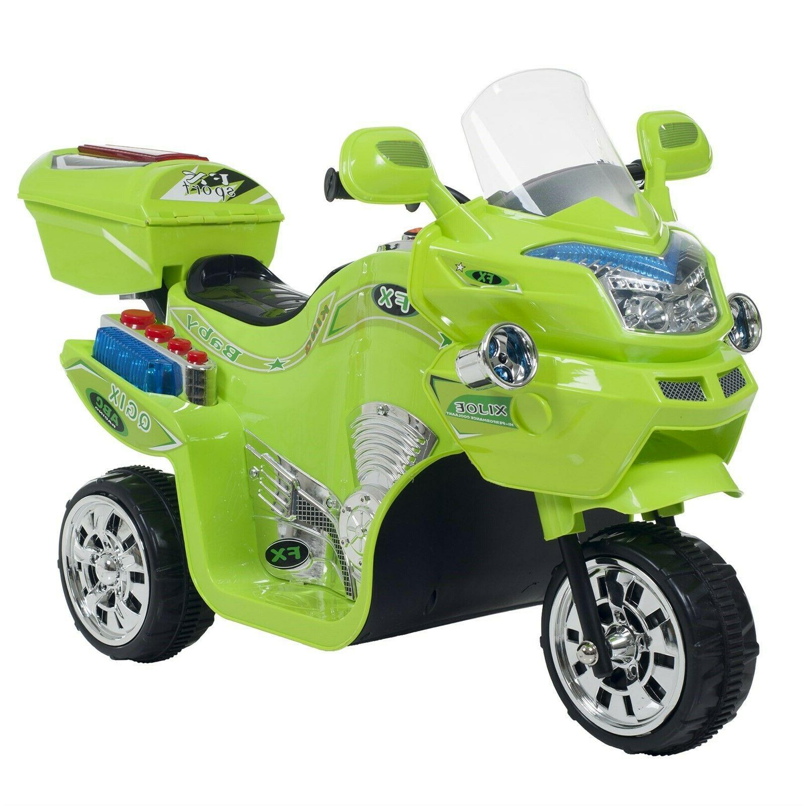NEW Lil' Rider 3 Wheel Battery Powered FX Sport Bike - Green