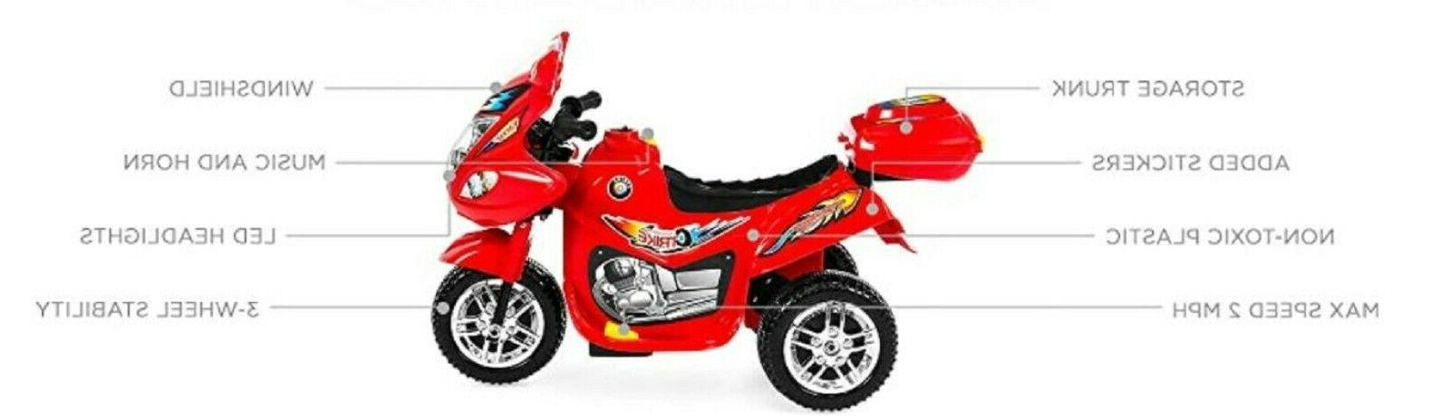 Kids Powered Motorcycle Bike Scooter Ride