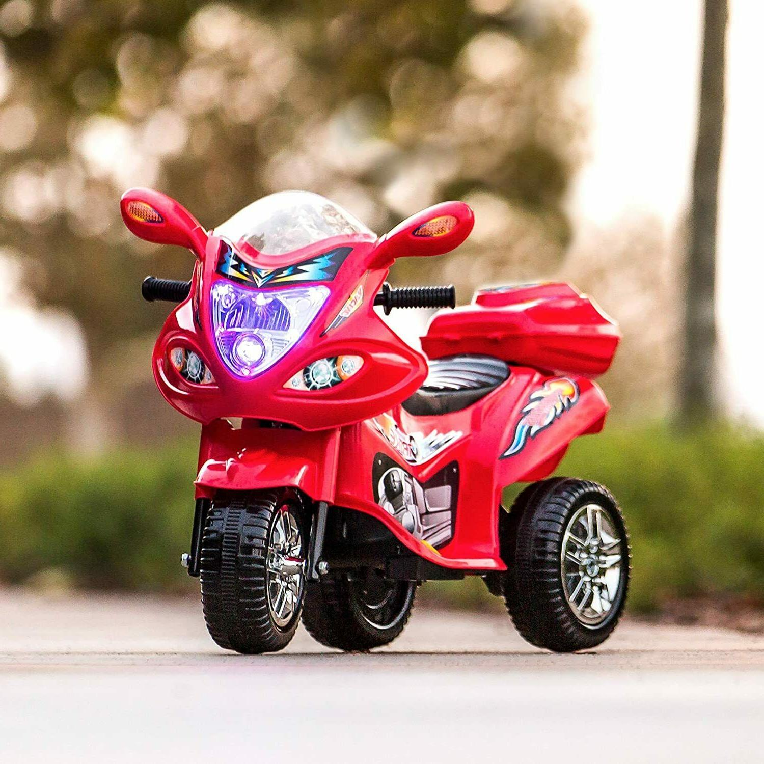 Kids 6V Battery Motorcycle Scooter Toy Ride