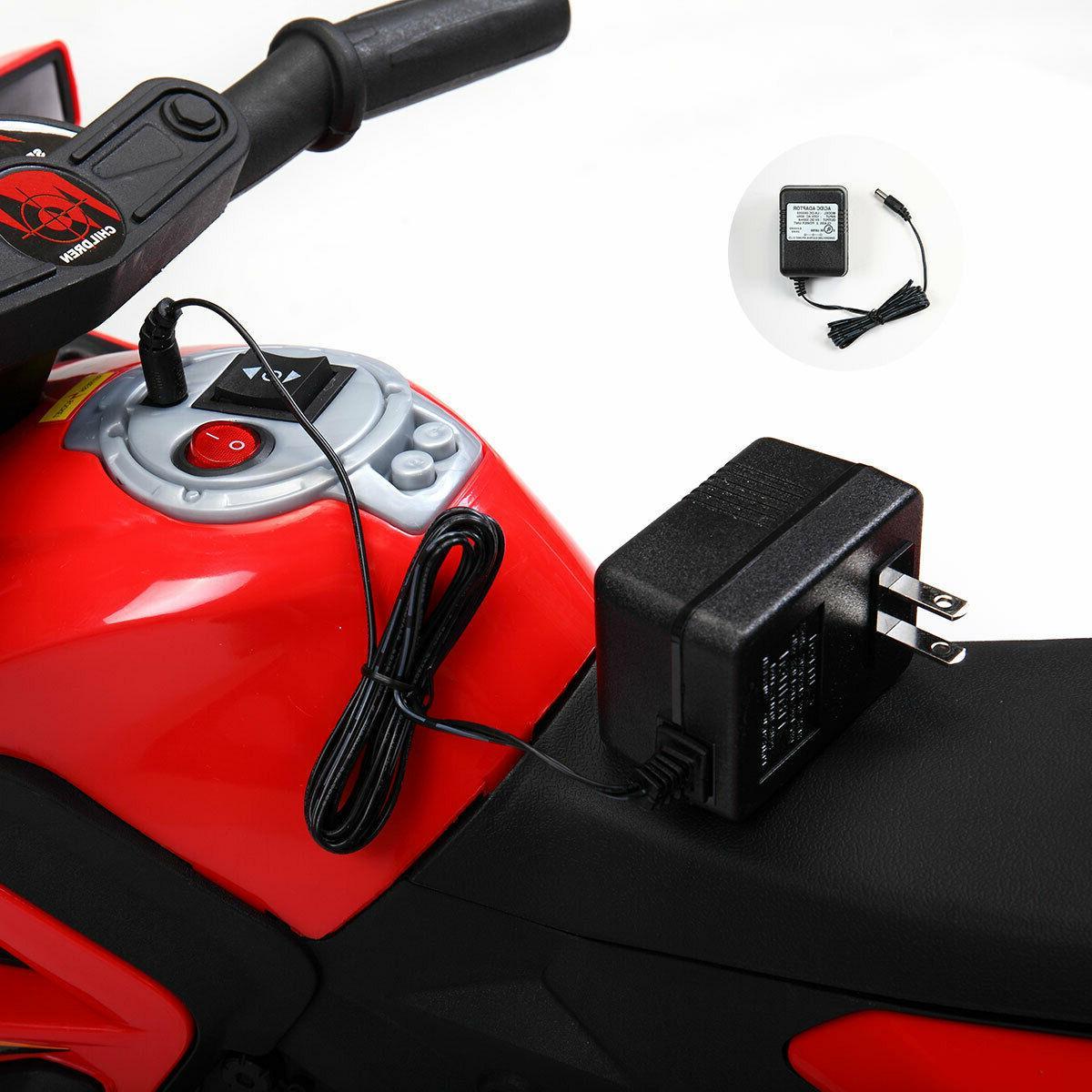 6V Electric Car w/ Wheels Red