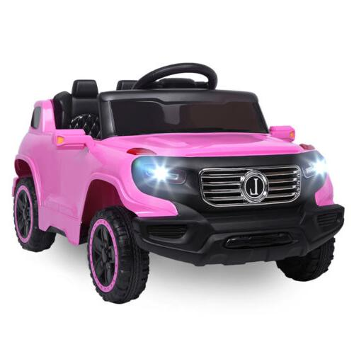 6V Kids Car Battery Powered Wheels w/ Remote Control Music