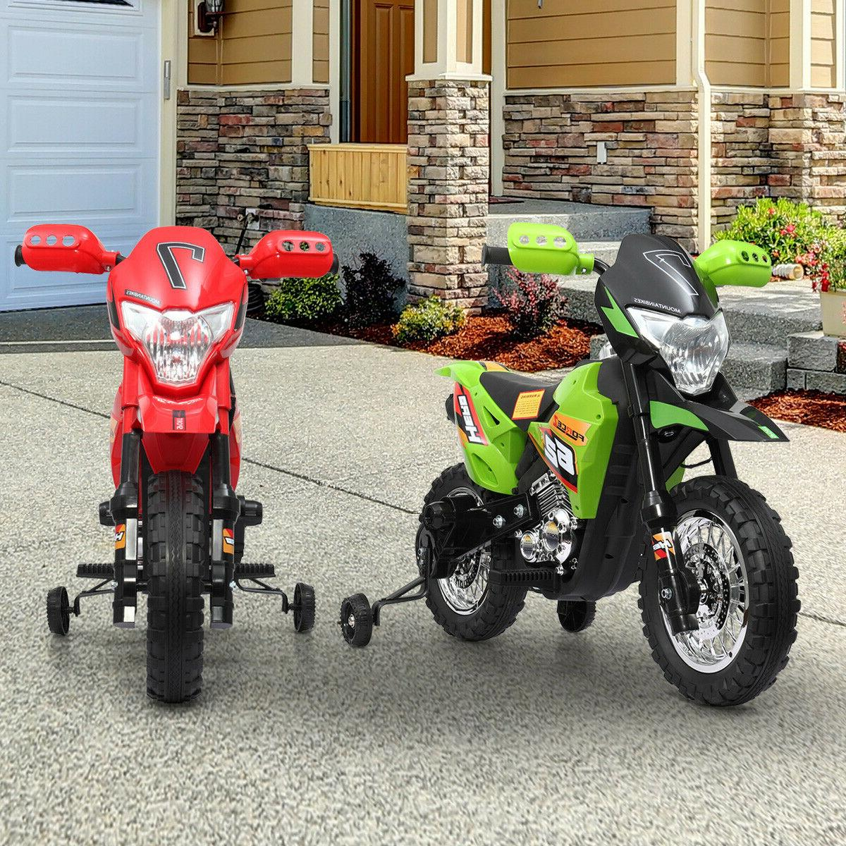 6V Motorcycle Powered Training wheels Color